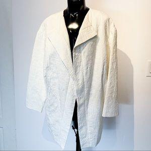 ZARA BASIC White Floral Jacket